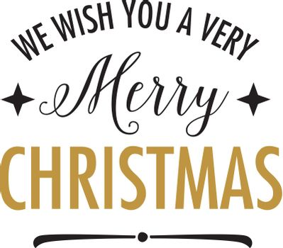 We wish you very merry Christmas lettering