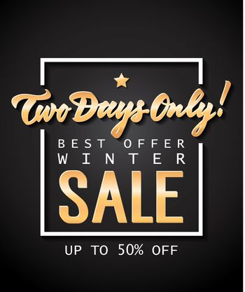 Two Days Only Sale Lettering