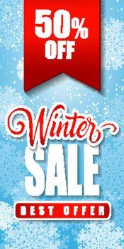 Winter Sale Inscription