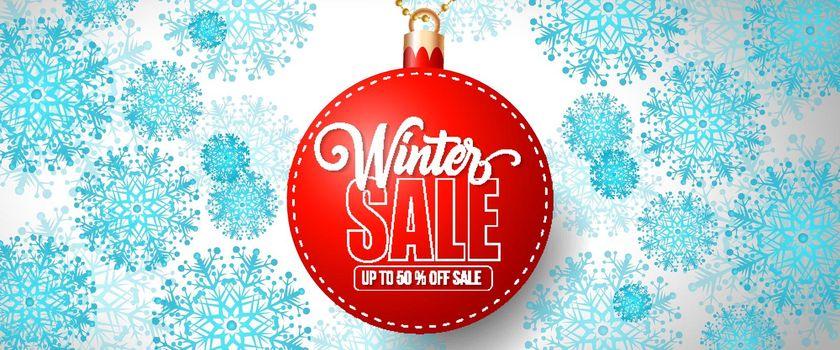 Winter Sale Lettering on Bauble