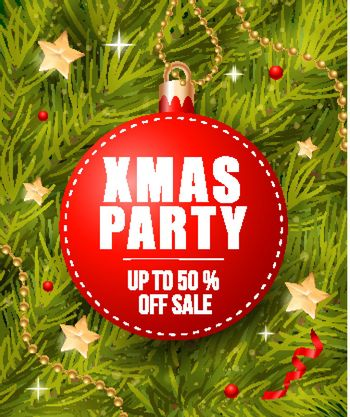 Xmas Party Lettering on Tag