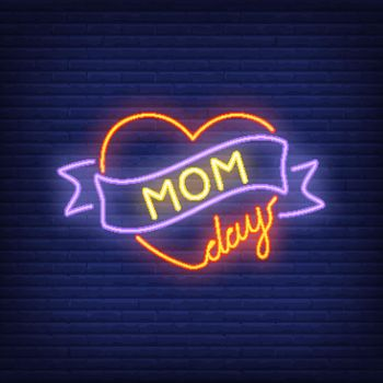 Mom day neon sign