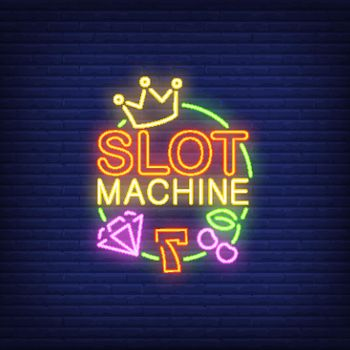 Slot machine neon sign