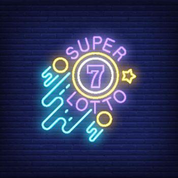 Super lotto neon sign