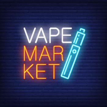 Vape market neon sign
