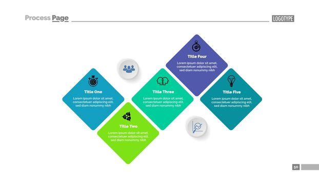 Five Elements Flow Chart Diagram Template