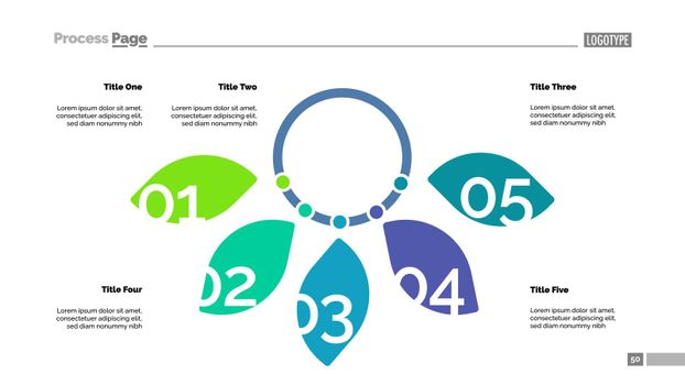 Five Petal Diagram Slide Template