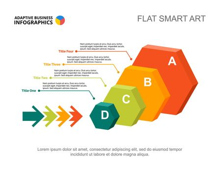 Four hexagon infographic design