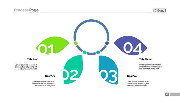 Four Options Petal Diagram Slide Template
