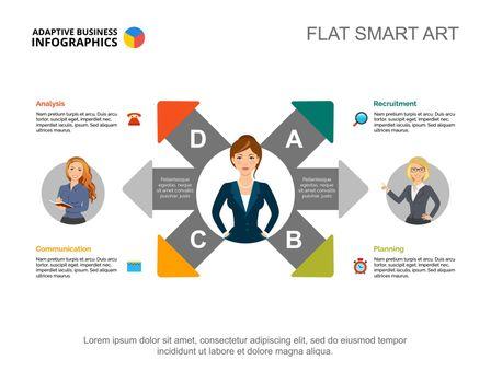 Six arrow graphic presentation design