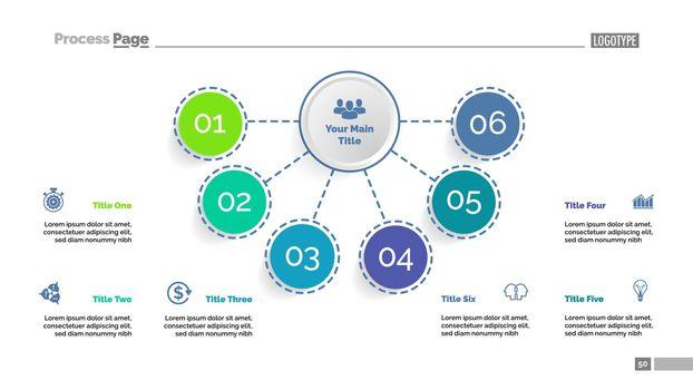 Six elements flowchart template