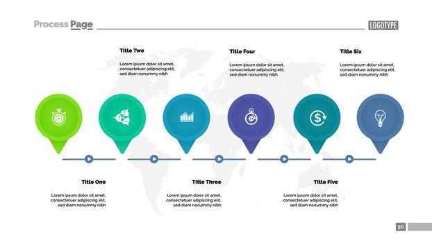 Six Main Points Diagram Template