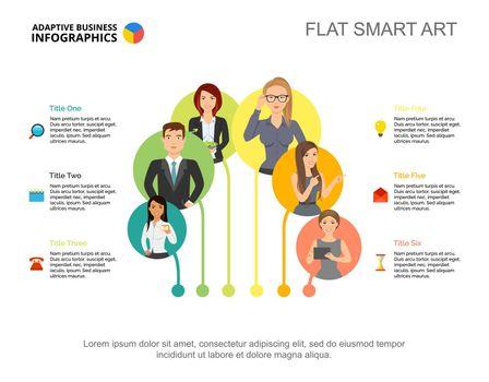 Six point graphic presentation design