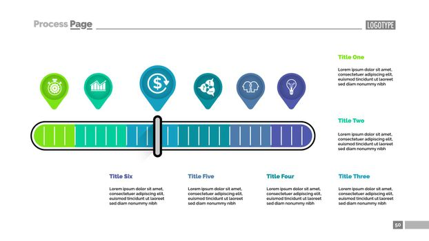 Six pointers scale metaphor process chart template