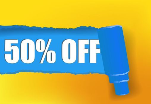 Fifty percent off promotion banner design