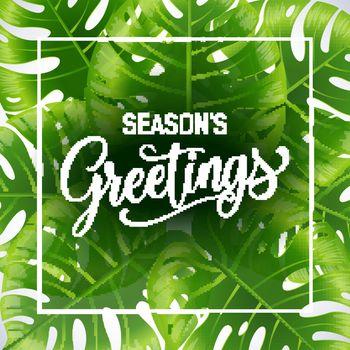 Seasons greetings poster template