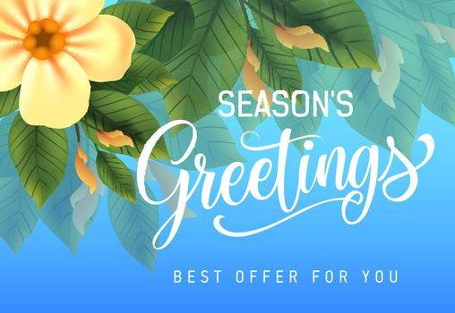 Seasons greetings, best offer for you advertising design