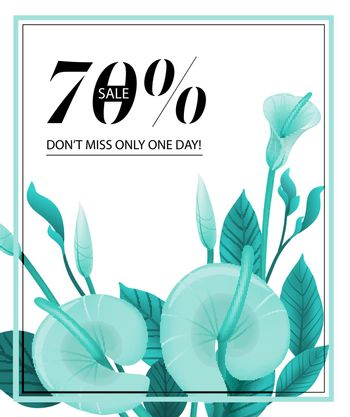 Seventy percent sale, do not miss only one day coupon