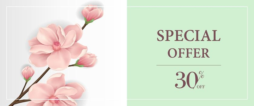 Special offer thirty percent off banner design