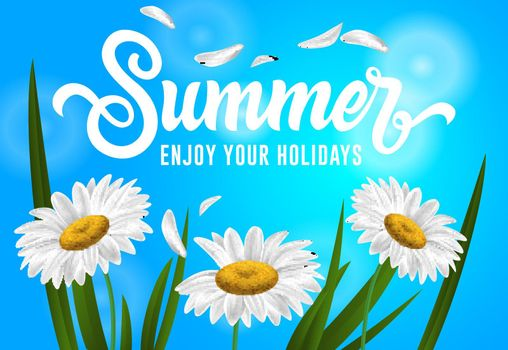Summer, enjoy your holidays seasonal banner design