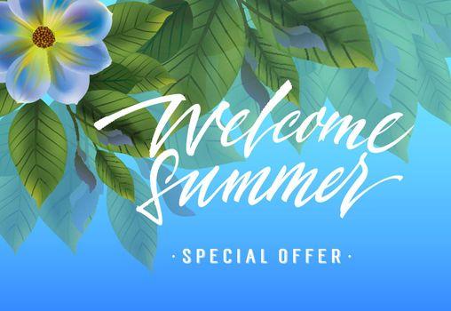 Welcome summer, special offer banner design