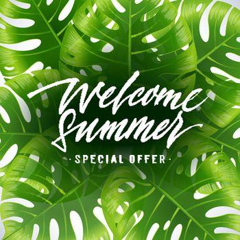 Welcome summer, special offer poster design