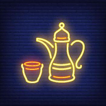 Arabic coffee neon sign
