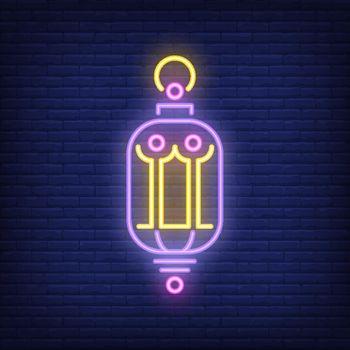 Beautiful lantern neon sign