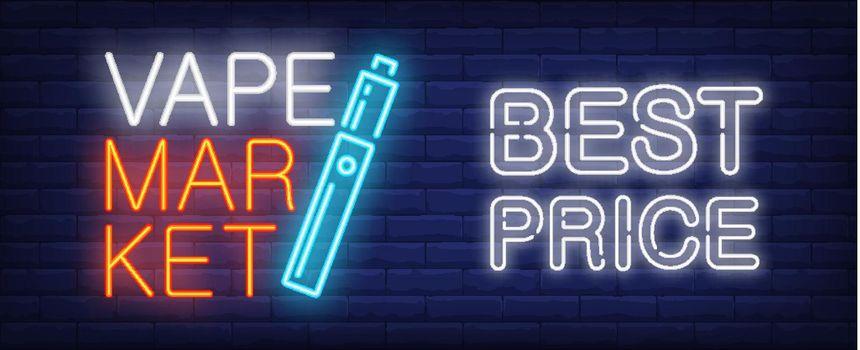 Best price in vape market neon sign