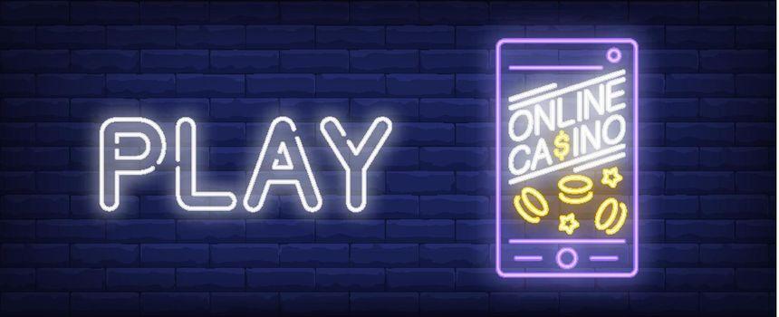 Casino application neon sign