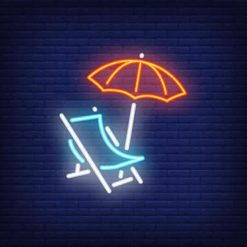 Chaise-lounge neon sign