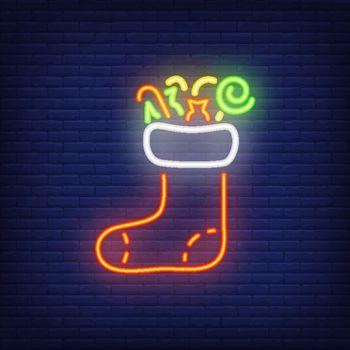 Christmas sock neon sign