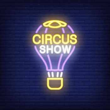 Circus show neon sign