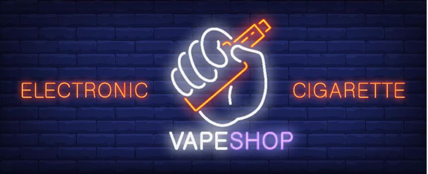 Electronic cigarette neon sign
