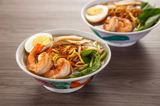 Spicy Prawn Noodle. A delicacy made popular by the Chinese in Malaysia and Singapore