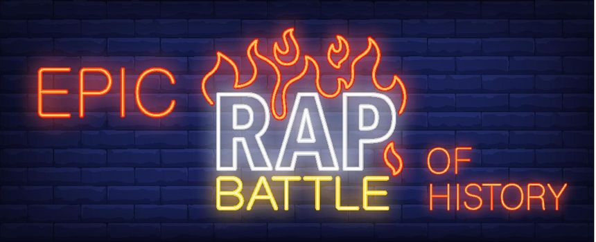 Epic rap battle of history neon sign