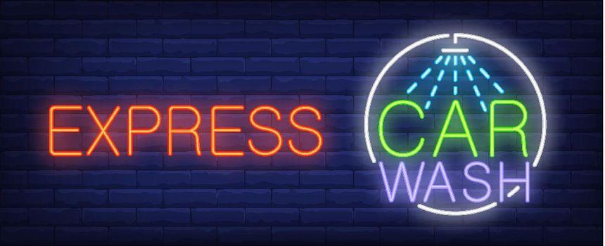 Express car wash neon sign