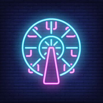 Ferris wheel neon sign