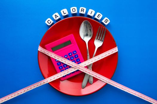 Calories counting , diet and  food control concept.