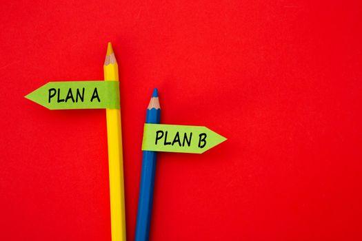 Direction indicator - Choice of Plan A or Plan B.