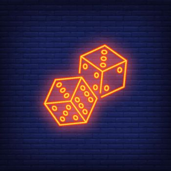 Game dices night bright advertisement element