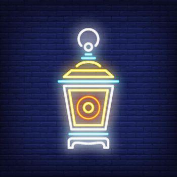Garden lantern neon sign
