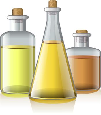Realistic vector illustration of aromatic oil