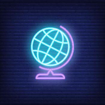 Globe neon sign