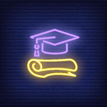 Graduation neon sign