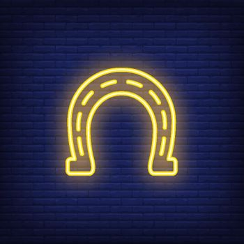 Horseshoe neon sign design element