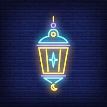 Islamic lantern neon sign