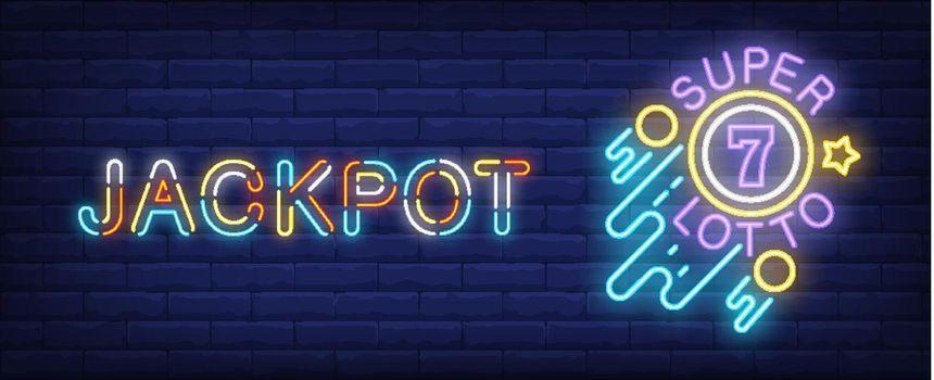 Jackpot neon sign