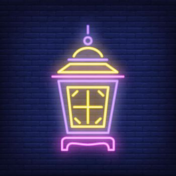 Lit up lamp neon sign
