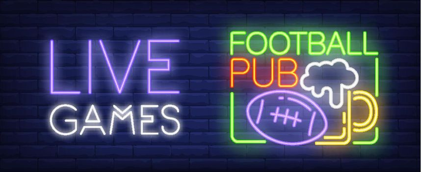 Live games neon sign